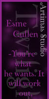 Esme - Twilight Bookmark