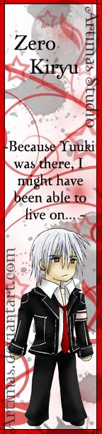 Vampire Knight - Zero Bookmark by ArtimasStudio