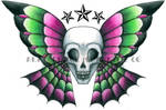 'Skulterfly' Tattoo Design