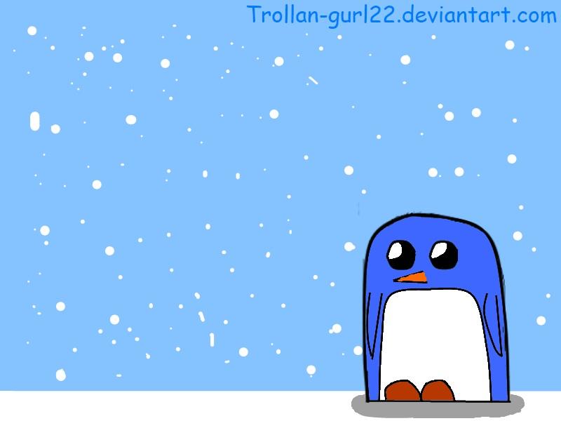 Penguin Wallpaper by Trollan-gurl22