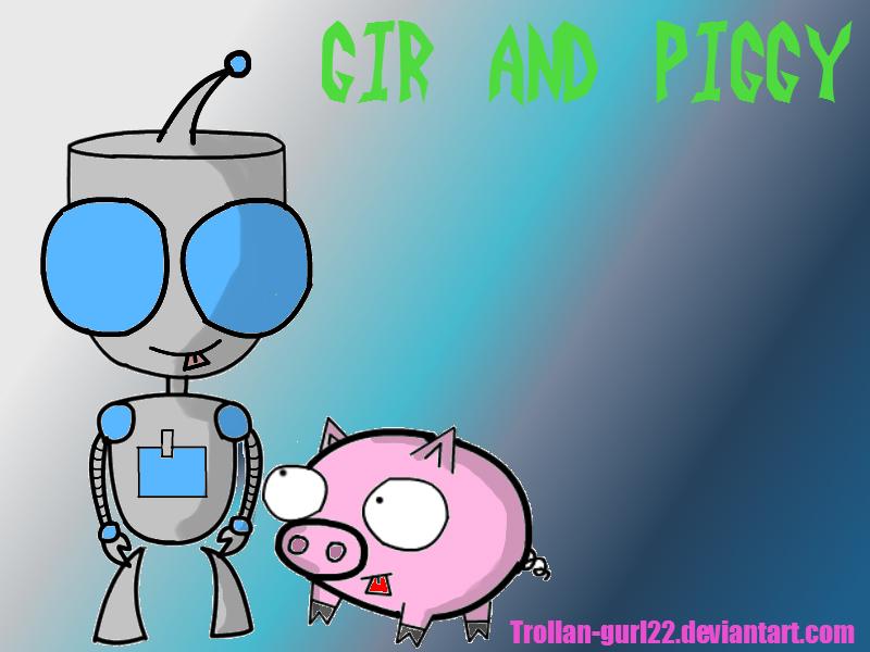 Gir and Piggy by Trollan-gurl22