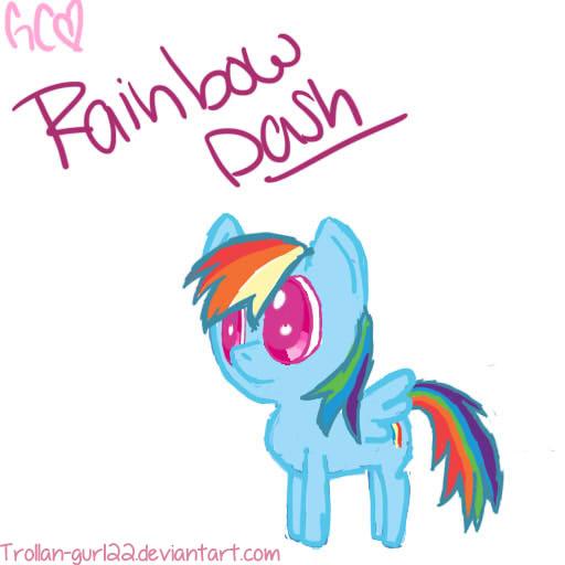Rainbow Dash by Trollan-gurl22