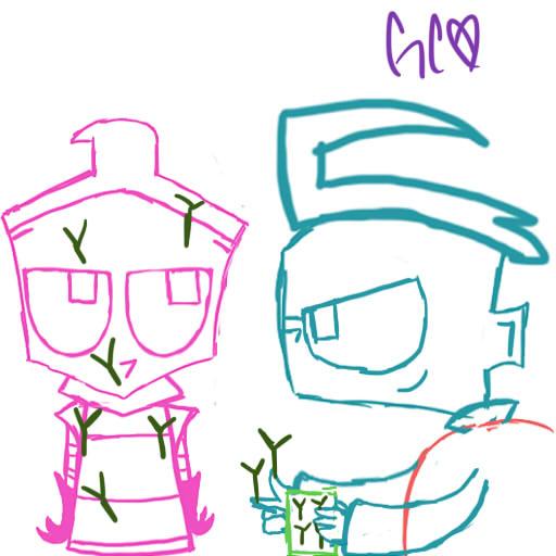 Dib Cell Joke Sketch by Trollan-gurl22