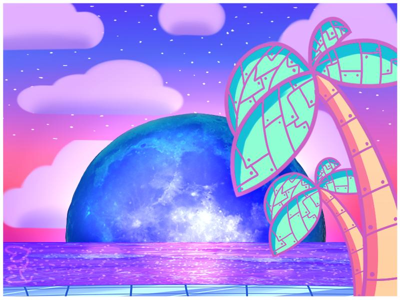 Neon moonset by Trollan-gurl22
