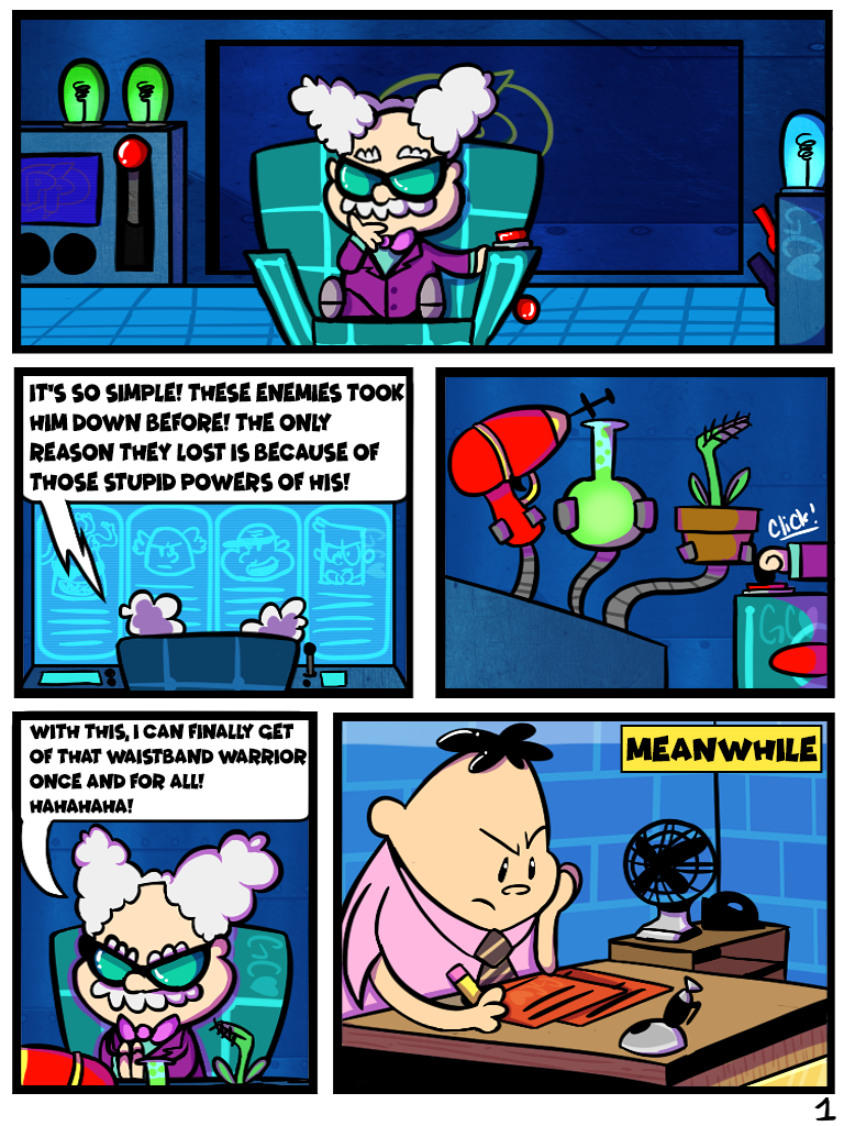 Professor Poopypants comic [commission page 1/?] by Trollan-gurl22