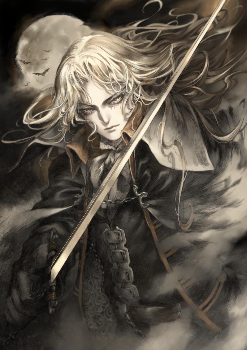 castlevania symphony of the night alucard by frothmanjyu