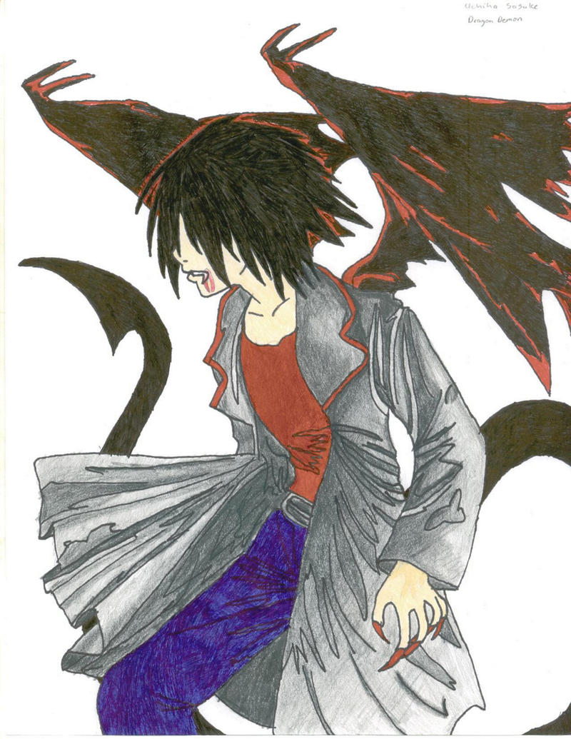 Sasuke dragon demon by dregrith on deviantart - Sasuke uchiwa demon ...