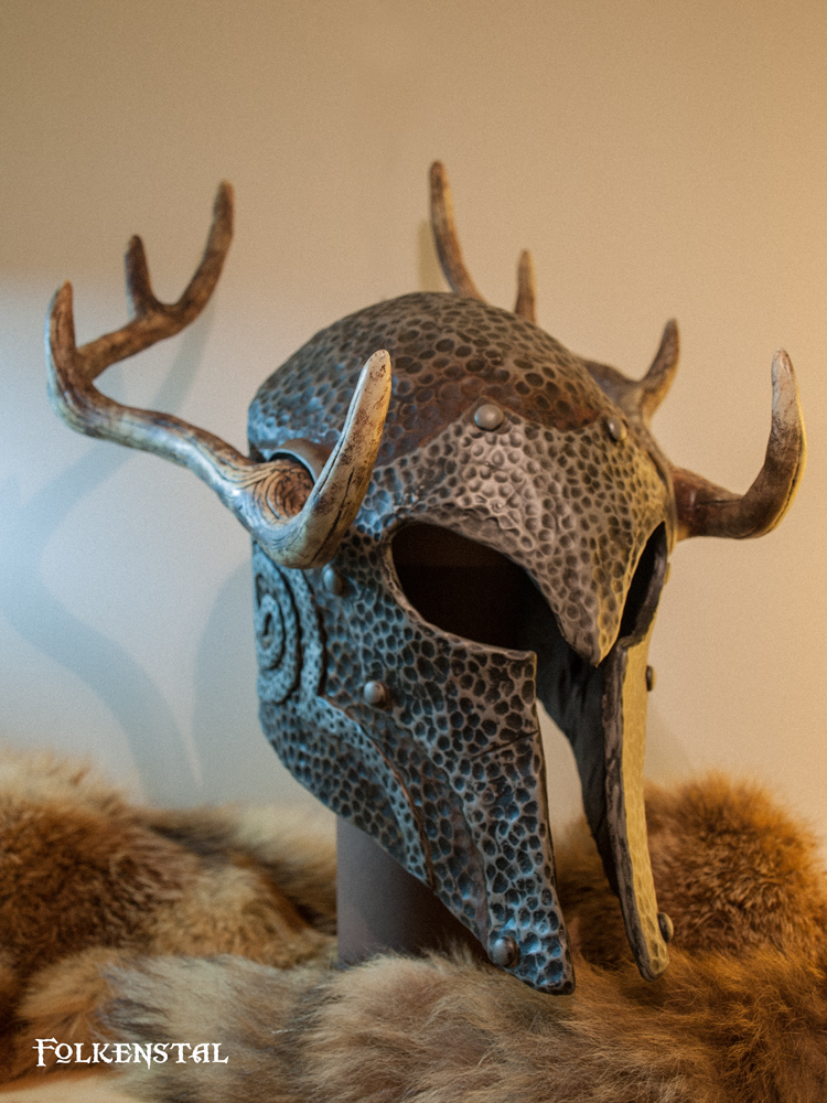 Skyrim female Ancient Nord Helmet 3/4 by Folkenstal