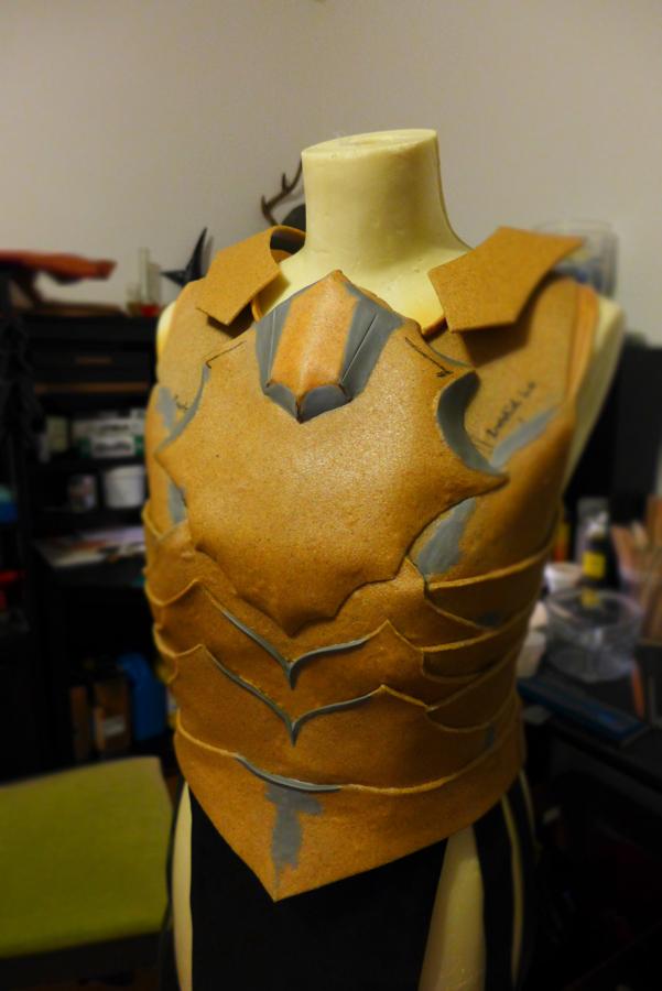 Ebony Armor - WIP 2 by Folkenstal