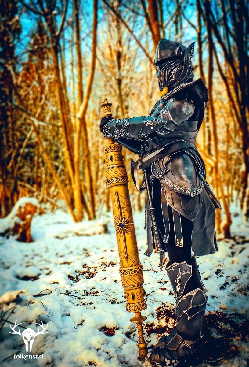 The Elder Scrolls V: Skyrim - In the snow by Folkenstal