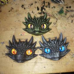 Drogon, Viserion, Rhaegal brooches/badges