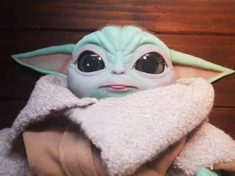 Baby blep - baby 'yoda' doll