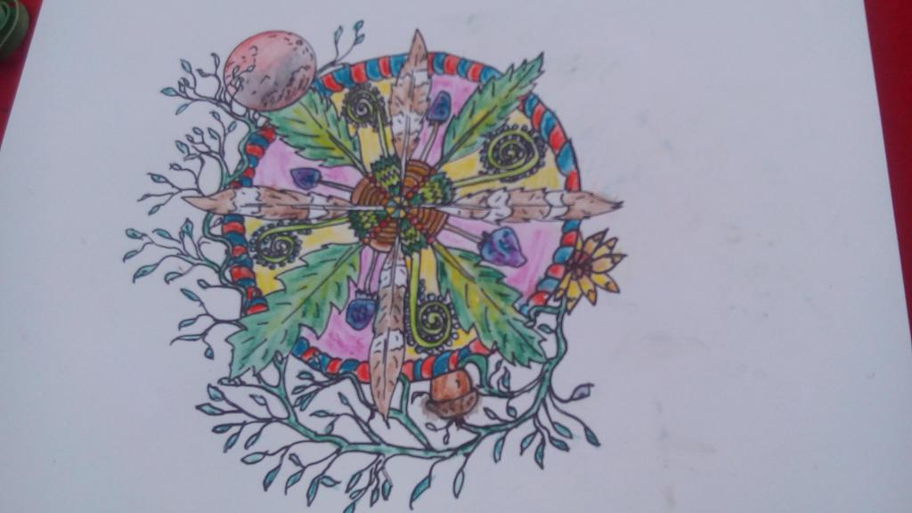 Solstice Mandala  by Whitewolfsage
