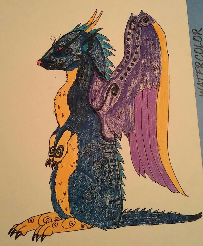 Meetkat Dragon Doodle by Whitewolfsage