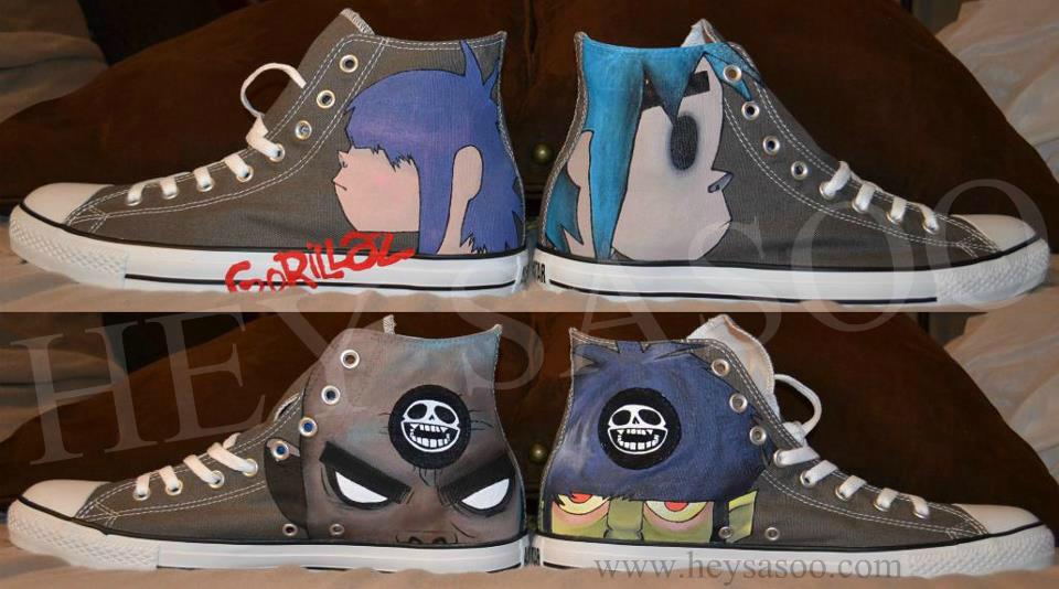 d19745388bf7 Custom Gorillaz Shoes by HeySasoo on DeviantArt