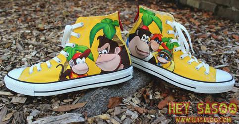 Donkey Kong 64 Custom Shoes by HeySasoo