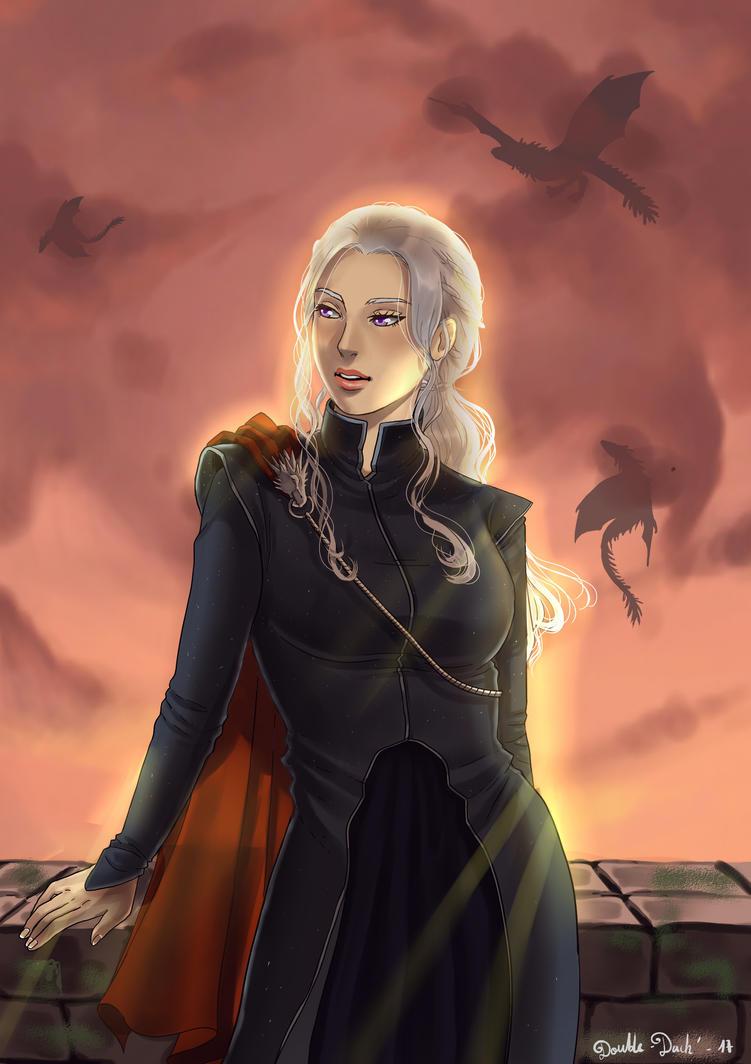 Daenerys Targarien by BlueAquarelle