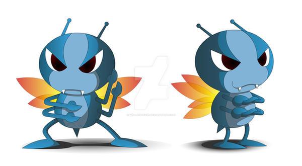 Blue Karateka Bug by williewinkie