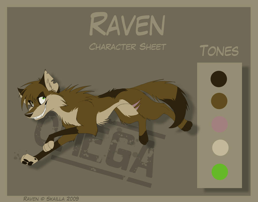Raven - Character Sheet by Skailla