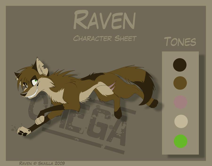 Raven - Character Sheet by Skailla