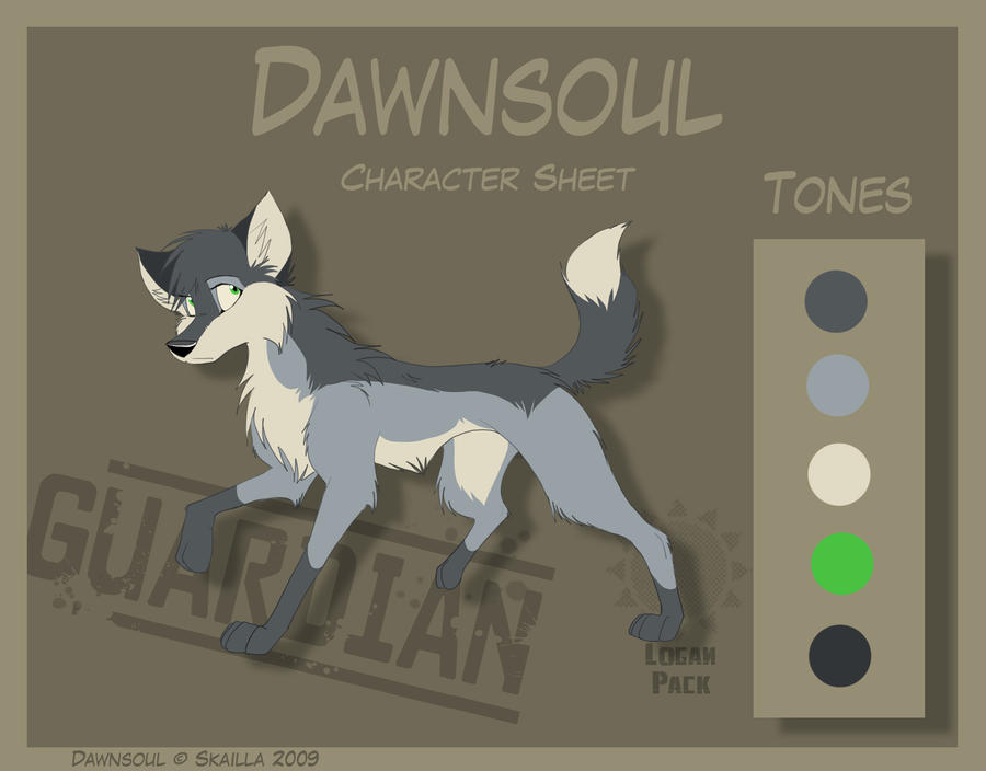 Dawnsoul - Character Sheet by Skailla