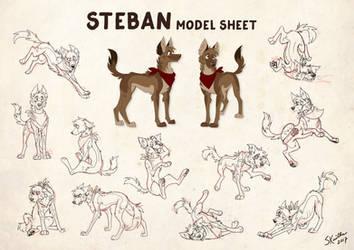 Steban - Model Sheet by Skailla
