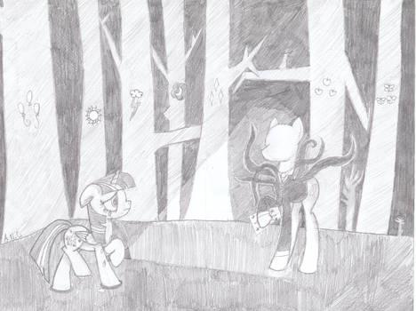 Twilight meets Slenderpony