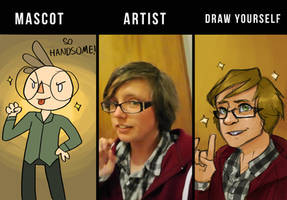 Mascot - Artist - Draw Yourself by Heliocathus