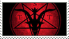 the satanic temple stamp by Heliocathus