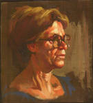 Oil Sketch of my Mother