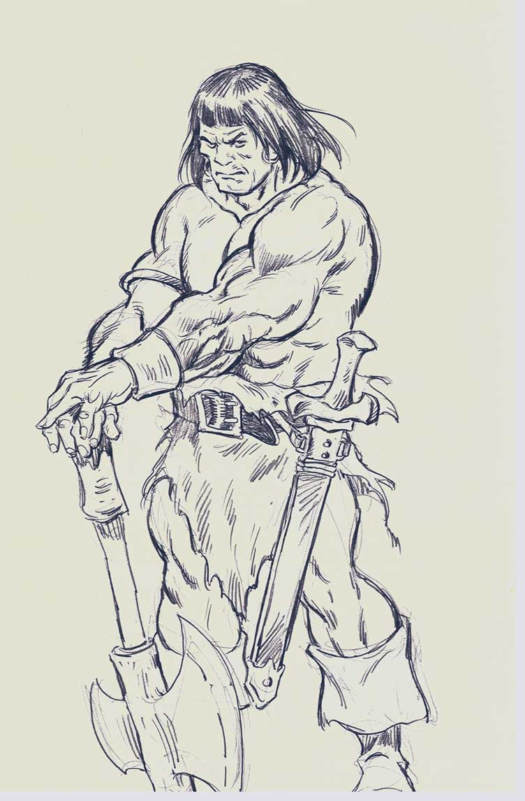 Homage to Frazetta and Buscema
