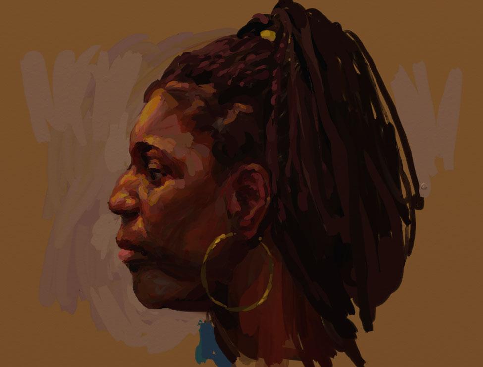 Oil Portrait (ArtRage) by grobles63