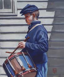 Civil-War-Drummer-Boy-Gouache by grobles63