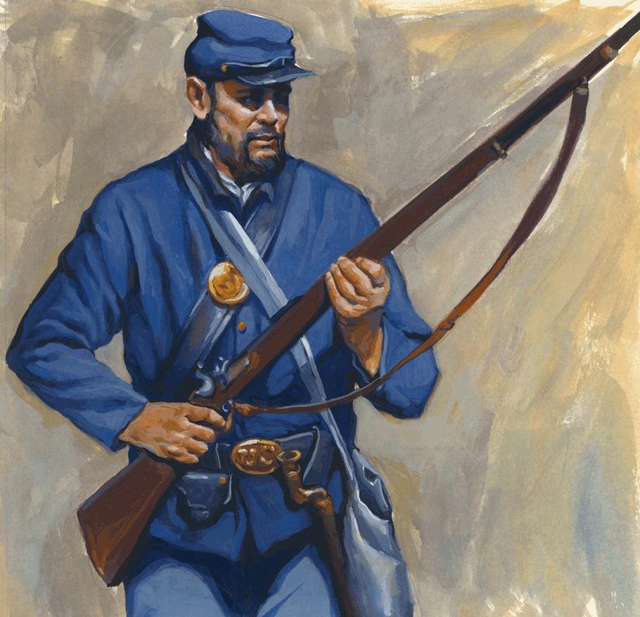 Civil-War-Soldier-Gouache- by grobles63
