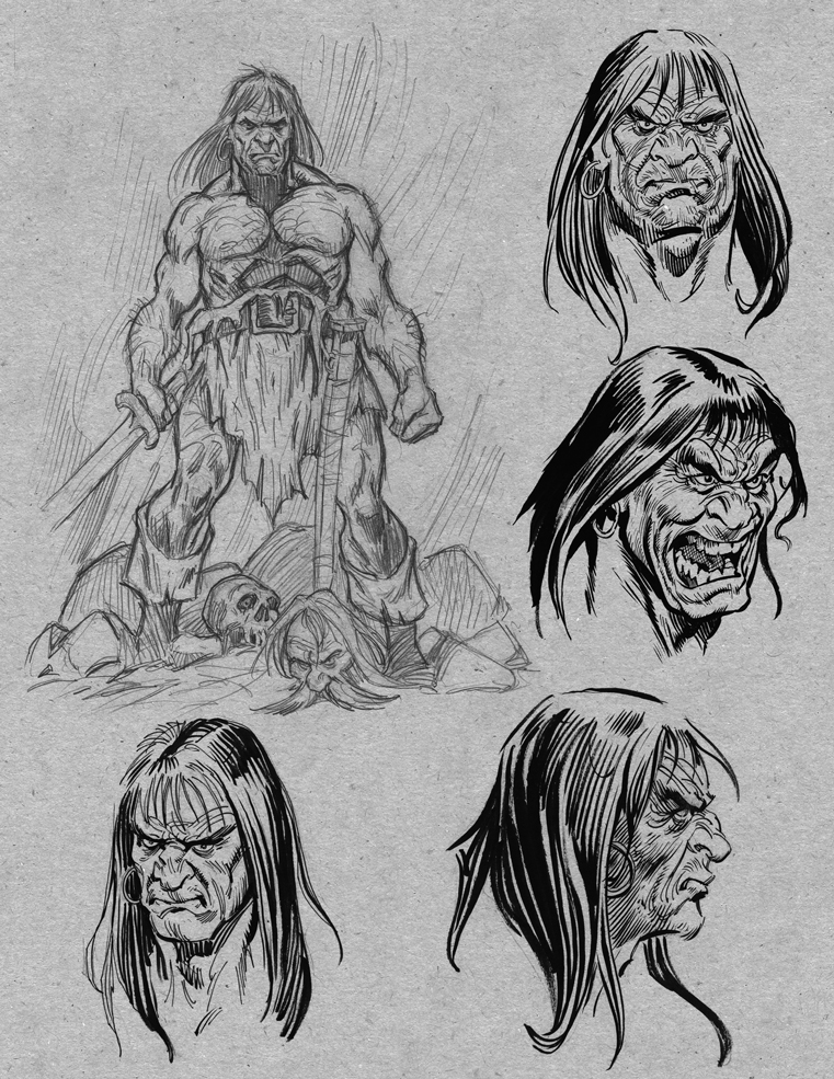 Conan page from sketchbook by grobles63