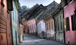 a street in Sighisoara