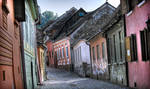 a street in Sighisoara by iacobvasile
