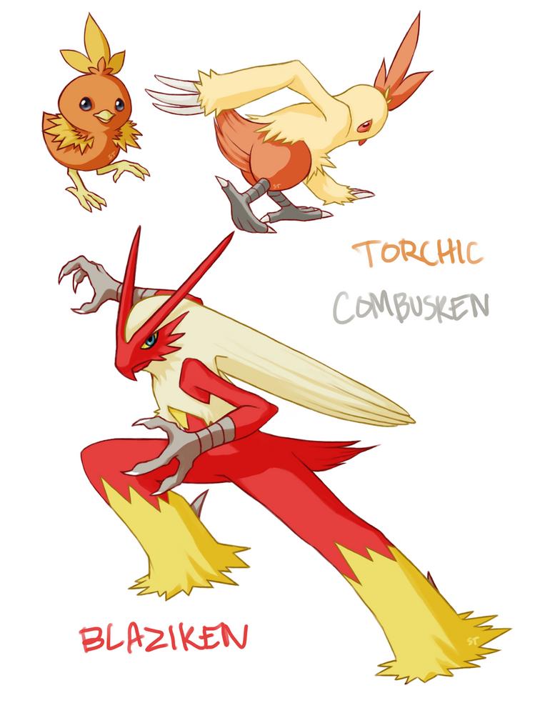 Torchic combusken blaziken by aphose on deviantart - Pokemon mega evolution blaziken ...