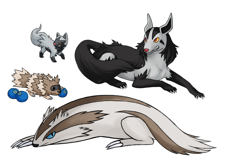 Poochyena Mightyena Zigzagoon Linoone by Aphose on DeviantArt