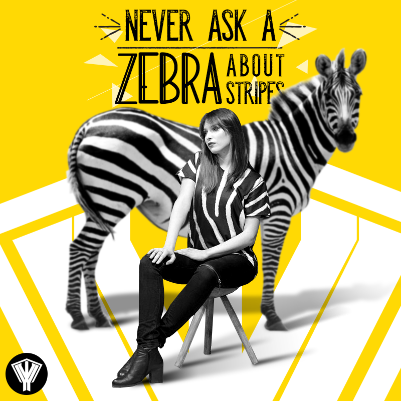 Never Ask A ZEBRA About Stripes! by NAKOOT