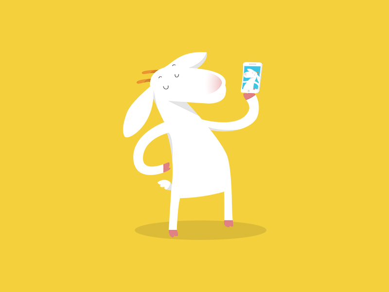 Goat Selfie by NAKOOT