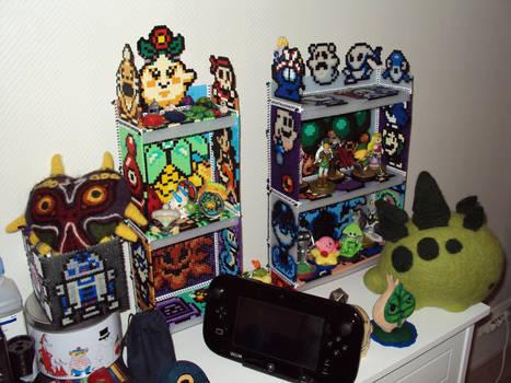 Shelves on a shelf.