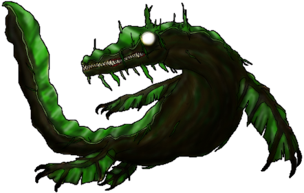 RPG Maker Monster - Moss-Za-Saurus by K-OZ-Will