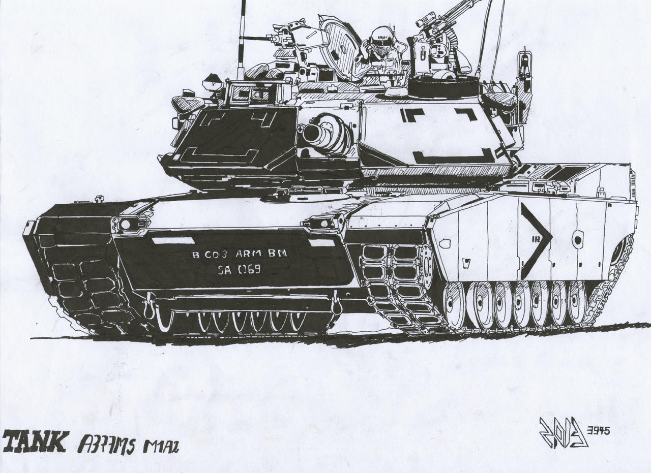 how to draw a m1a2 abrams