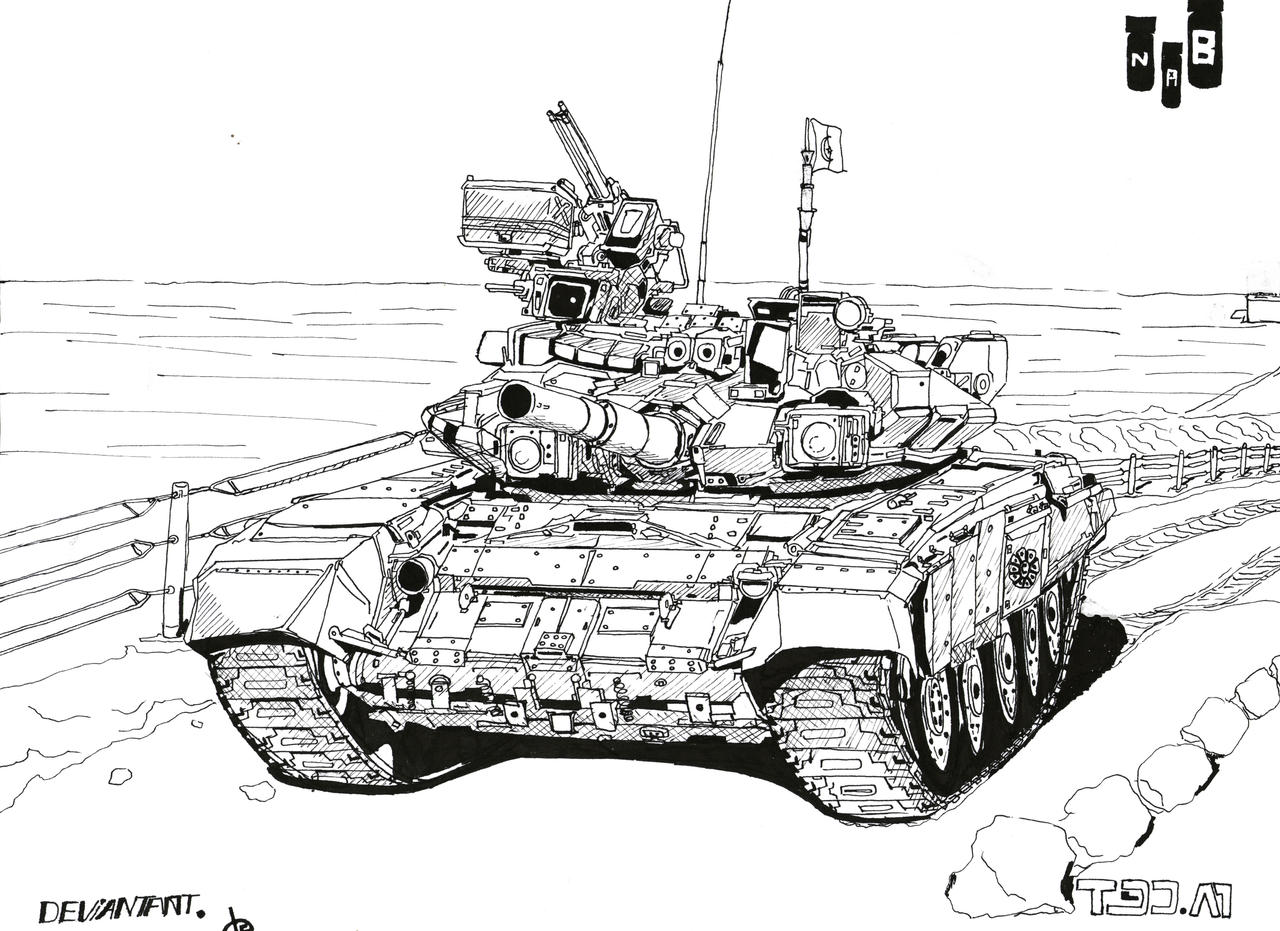 DZ T90 TANK by nab3945