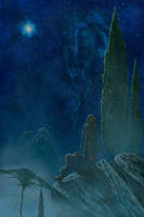 Maedhros and Maglor See the Silmaril Rise by KipRasmussen