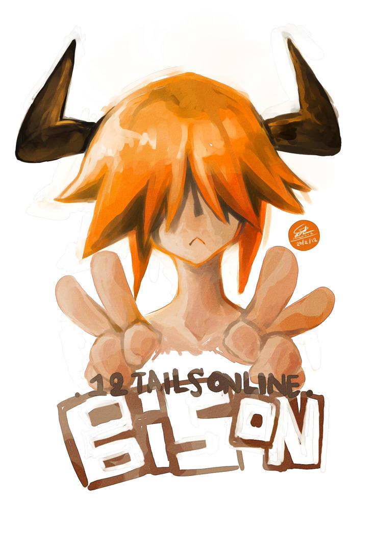 [12Tails] bison by moconiz