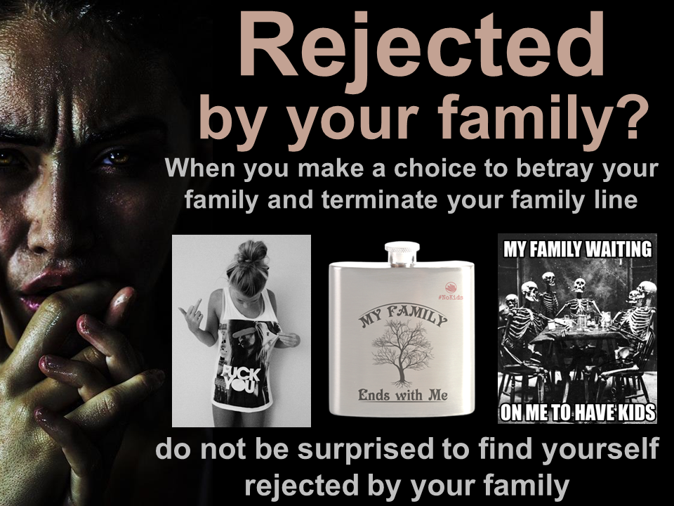 Childfree me not life values : family rejection by childfree-life