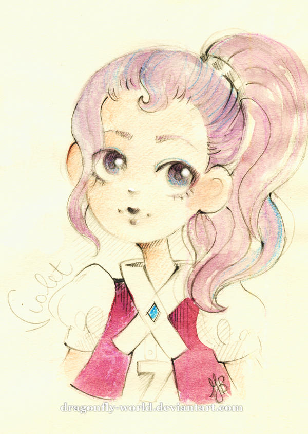 Violet sketch by dragonfly-world