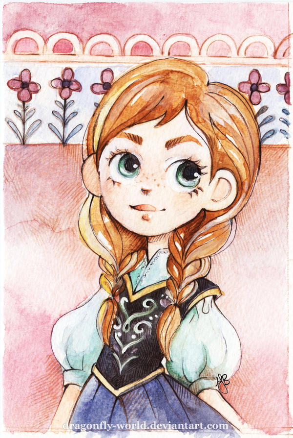 Anna of Arendelle Portrait by dragonfly-world